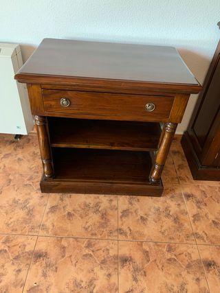 Mesa para televisión madera maciza nogal