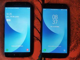 Dos móviles Samsung Galaxy J7 16 Gb