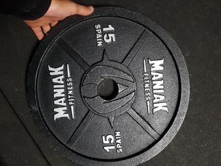 pareja discos maniak 15kg
