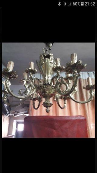 lámpara de techo bronce