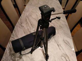 Trípode ligero para cámara con funda