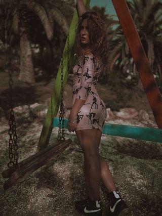 Vestido dos piezas Maria Escote