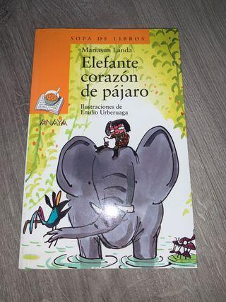 libro Elefante corazón de pájaro