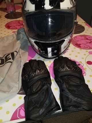 casco y guantes