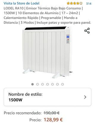 Radiador eléctrico de bajo consumo casi nuevo