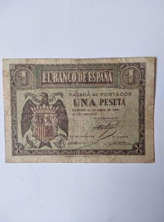 Antiguo billete de España.