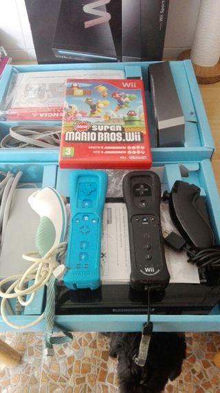 wii +juego+dos mandos en caja original, ver fotos!