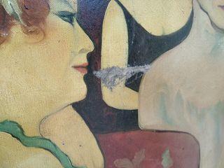 cuadro estilo Lautrec señorita francesas
