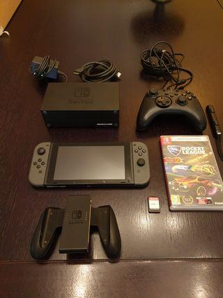 Nintendo Switch + Mando Extra + Juegos