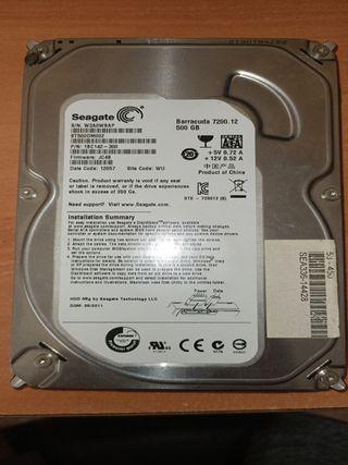"""Disco duro 3,5"""" HDD 500gb"""