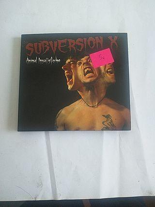 CD Subversion X Animal insatisfecho