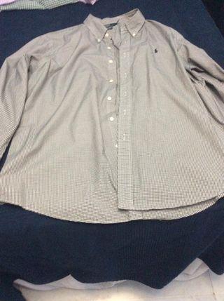 Camisa cuadros negros Polo Ralph Lauren talla XXL