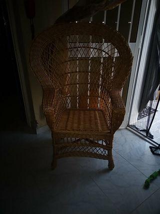 sillón mimbre