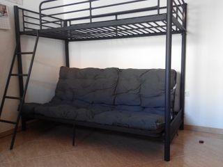Conjunto cama - sofá + litera domitorio juvenil