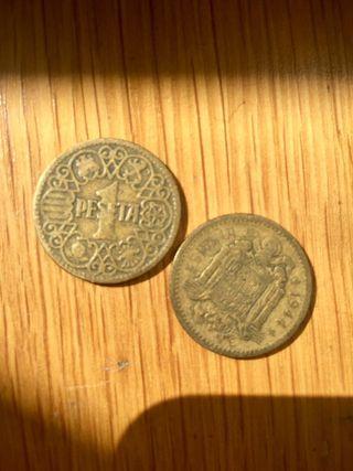 Monedas de peseta antiguas