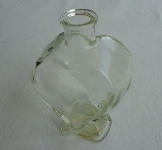 """Botella """"Love Heart' vidrio."""