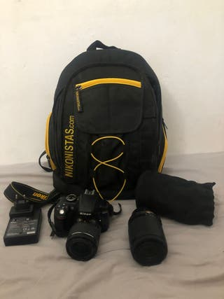 Cámara reflex Nikon D3300 + objetivo AF-S 55-200mm