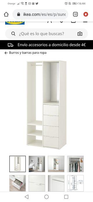 Armario SUNDLET Ikea blanco