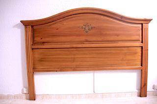 Cabecero de madera maciza para cama de 150