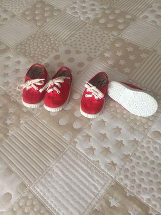 Zapatilla niña n. 20 roja, mellizas, gemelas
