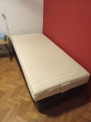 Canapé con arcón y colchón 90x190 cm.