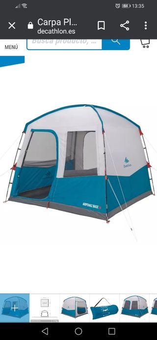 Base refúgio camping Quechua