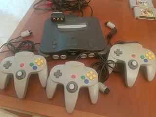 Consola Nintendo 64 + 3 mandos