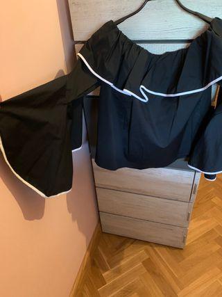 Blusa negra Zara