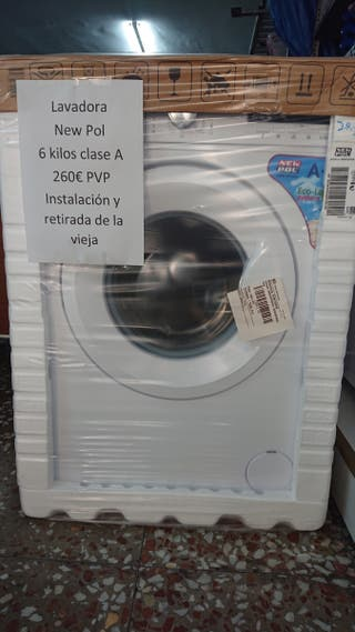 lavadora new Pol 6 kilos nueva hoy 240 oferta