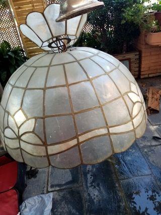 lampara techo nacar
