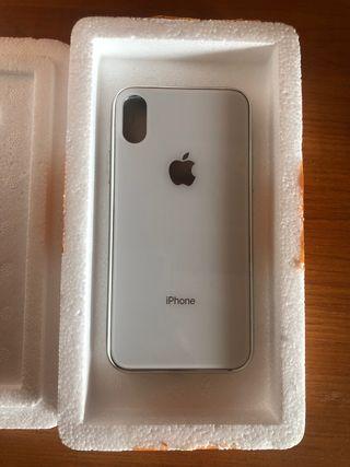 Funda cristal iPhone X , iPhone XS blanca