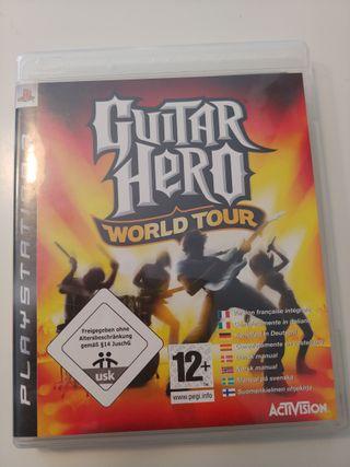 GUITAR HERO WORLD TOUR PS3 CON GUITARRA