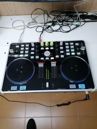 controladora dj, mesa mezclas, musica