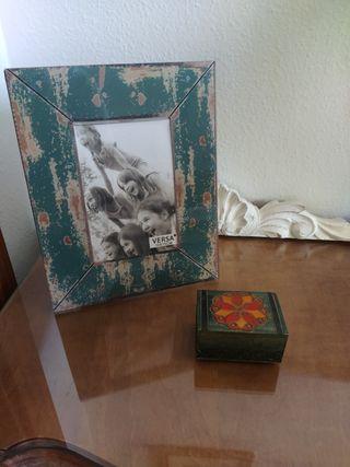 Marco de fotos y caja árabe