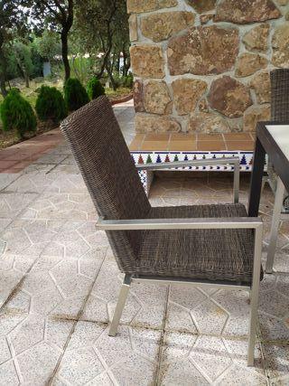 mesa de jardin y 6 sillas