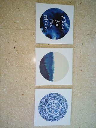 3 cuadros nuevos