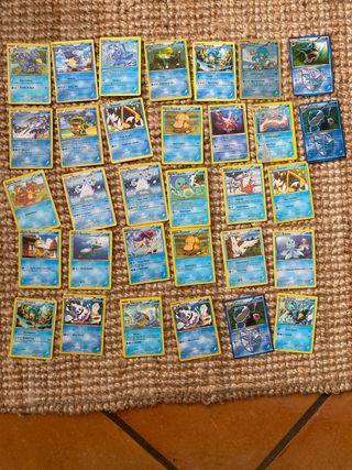 Cartas de pokemon tipo agua