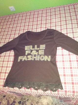 Lote Camiseta marron, +regalo Etam M