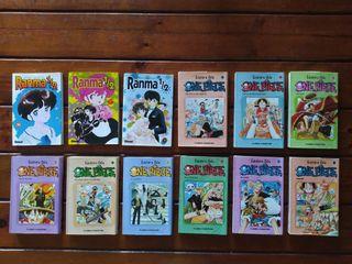Manga One Piece 1 a 9 y Ranma 36, 37 y 38