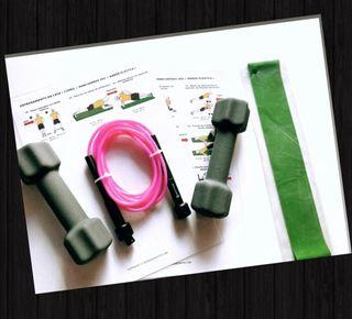 Fitness en casa con entrenamiento + material