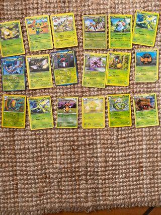 Cartas de pokemon tipo hoja