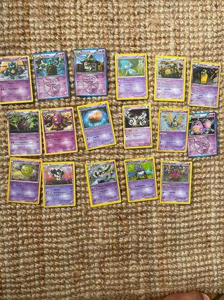 Cartas de pokemon tipo visión