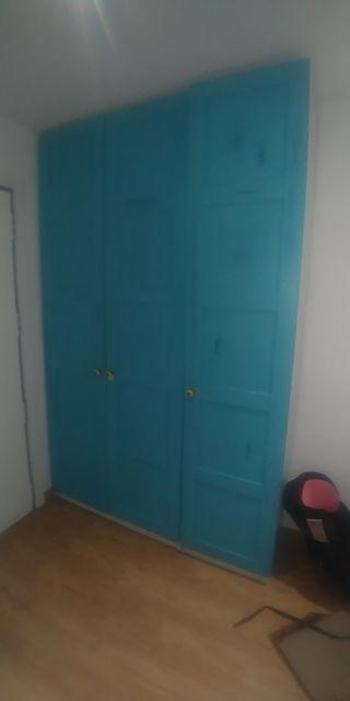 armario Pax de ikea con puertas personalizadas
