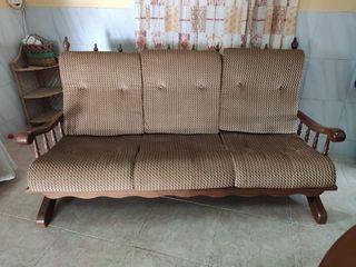 sofá madera
