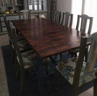 oportunidad! mesa comedor y 8 sillas