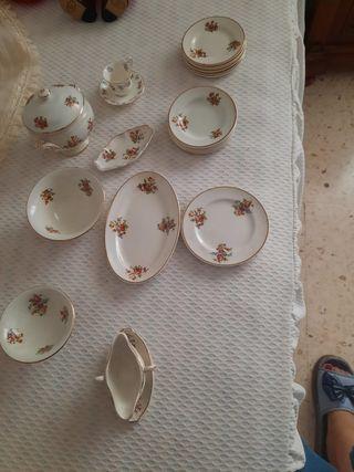 Juego de porcelana para casas de muñecas 21 piezas