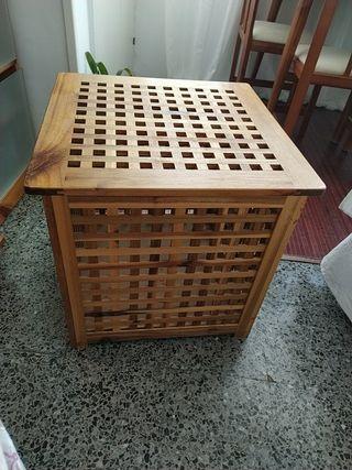 caja de madera barniza de ikea