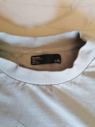 camiseta bershka de hombre talla