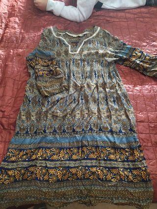 vestido de tela finita estilo hippie