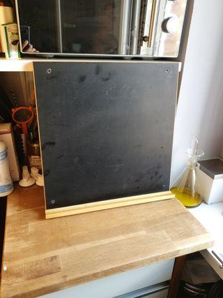 Pizarra de madera cocina